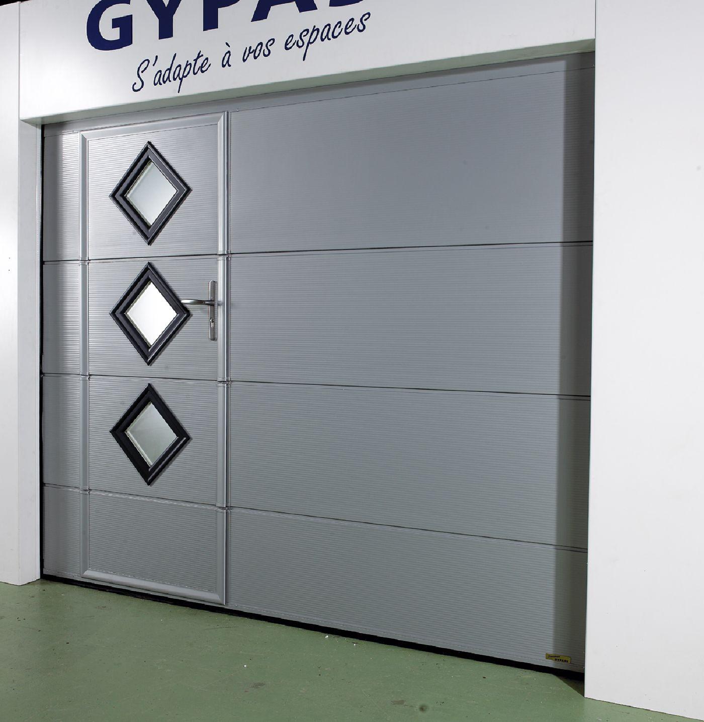 Magnificent Porte De Service Ways Kvazarinfo - Porte de garage sectionnelle avec porte de service pvc 200x90